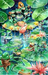 Frog's party by Pendalune