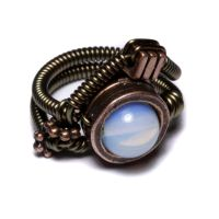 Steampunk Jewelry Moon Ring by CatherinetteRings