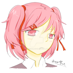 Natsuki Cell-Shading Practice by BDOG375