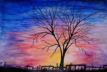 Lonely tree - Christmas present for my mum by varjules