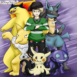 Pokesona : Jake and the Team by Sniffy678578