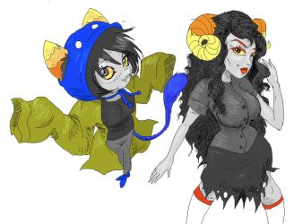 nepta and aradia by pickledshoe