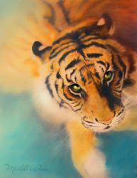 Colourful tiger by Michelle-Winer