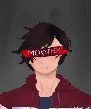 the monster by xWclfie