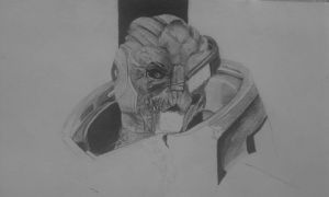 Garrus (unfinished) by Arualsti