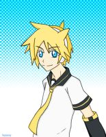 Len from Vocaloid 2 by JazzyOkami