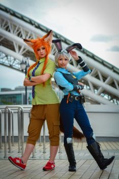 Wilde and Officer Hopps! by AngelaBermudez