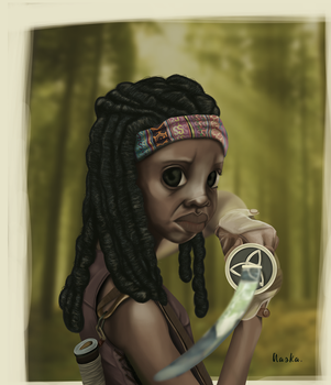 AASKA - THE WALKING DEAD - MICHONNE - COLORS by AASKA-CREA