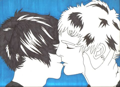 Boys kissing BOYS by hxcswitch