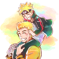 Naruto and Boruto by TaffyDesu