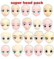 MMD super head pack by bawicho