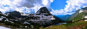 Hidden Lake Pano by KRHPhotography
