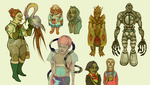 Colorful characters set 3 by labirynt