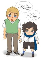 Young Sherlock and John by RayanWoulfe