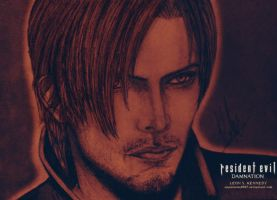 Leon S. Kennedy drawing (color) by AkaiUchiha9097
