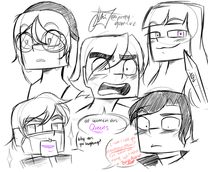 How I Draw Minecraft Expressions by PrettyXTheXArtist