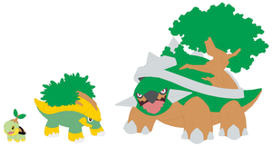 Turtwig, Grotle and Torterra Base