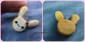 Polymer Clay : Bunny Cookies by eunnychan