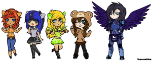 chibi gijinkas commissions by ponymonster