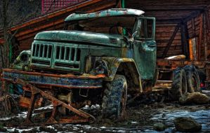 Abandoned truck by DDr3ams