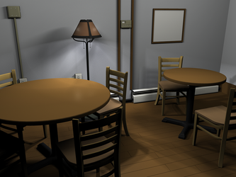 Coffeeshop Interior Model v2 by smudgedcat