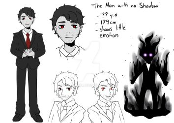 The Man with no Shadow - OC Ref by MidoriAoki