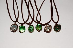 Cracked Marble necklaces by Echos-in-the-Shadows