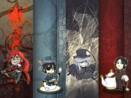 Black Butler Bookmarks by oneoftwo