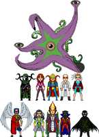 New Amalgam: Allies and Enemies of Dr. Strangefate by Red-Rum-18