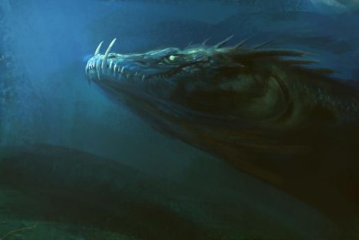 Deep sea Dragon by Manzanedo