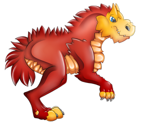 Red Dinosaur PNG by Caitybee