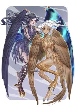 Commission: Harpies by alexielart