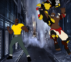 Doomfist vs Luke Cage by RedPegasus237