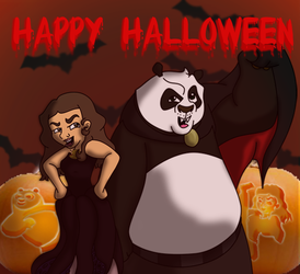 Chrissy and Po---Happy Halloween by vcm1824