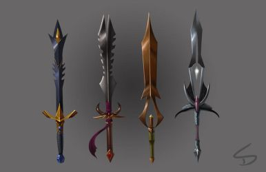 Sword Concepts 1 by skdiesel