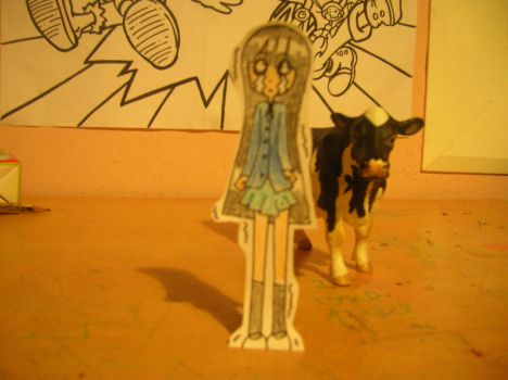 Mio and Cow by Marlea132