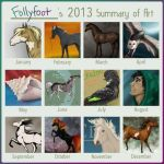 2013 Summary of Art by Follyfoot