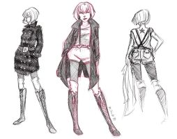 Batwoman Haute Couture Sketches by msciuto