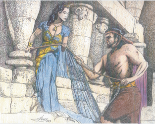 Samson And Delilah by westernman