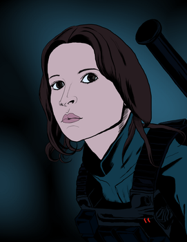 Jyn Erso +colored+ by aneolus