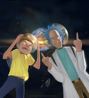 Rick And Morty by TychyTamara