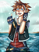 Sora (Kingdom Hearts) + speedpaint by pvdin