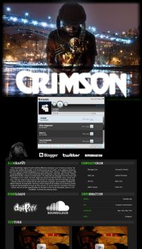 Crimson myspace by influenceddesign