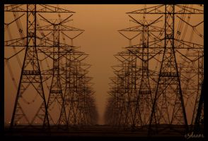 electricity poles by e3daam