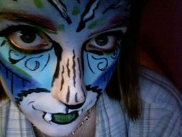 Blue Tiger Face Paint by lygicaphisalogue