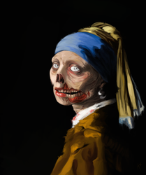 Girl with a Pearl Earring - Zombie Rendition by kalashnikovfs