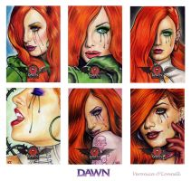 DAWN 20th Ann. Sketch Cards 3 by veripwolf