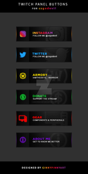 Twitch Panel Buttons - Csgodevil by ginnypinnyart
