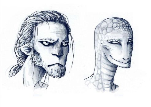 Anthropomorphes - heads by JustCallMeLum