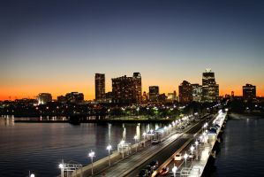 Downtown at Dusk by KAL1MAR1